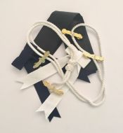 Ceremonial Pack - 1 x Sea Readiness Badge 1 x Pre-Tied Bow1 x White Lanyard1 x Black Silk
