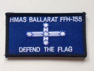 HMAS Ballarat- FFH-155  DPNU Uniform Patch OLD