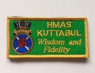 HMAS Kuttabul DPNU Uniform Patch
