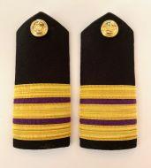 3 Stripe Hardboard Engineer (Pair) Epaulette (12mm)+ Purple