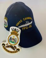 HMAS Canberra FFG-02 1981-2005 Ball Cap & Patch Combo