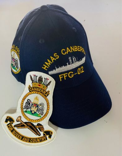 HMAS Canberra FFG-02 1981-2005 Ball Cap & Patch Combo