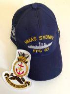 HMAS Sydney FFG-03 Ball Cap & Patch Combo