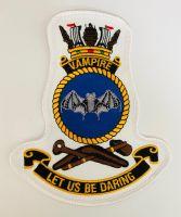 HMAS Vampire Crest Cloth Patch