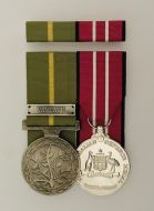 Humanitarian & Australian Defence Medal with Vanuatu Clasp with Ribbon Bar