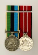 Australian Operational Service Medal-Greater Middle East and Australian Defence Medal (OSM/ADM) Free Ribbon Bar