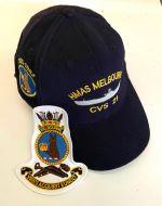 HMAS Melbourne CVS-21 uniform Ball Cap (1955-1982)& Cloth Patch