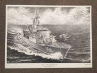 HMAS ANZAC Pencil Print