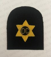 Officers Cooks Gold Wire Bullion Rate Badge
