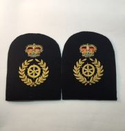 Chief Petty Officer Coxswain -Collar Rank/Rate Gold Wire (Pair)